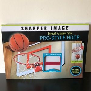 SHARPER IMAGE PRO-STYLE BASKETBALL HOOP NEW IN BOX